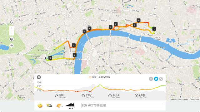 Bupa10k 2014 run map