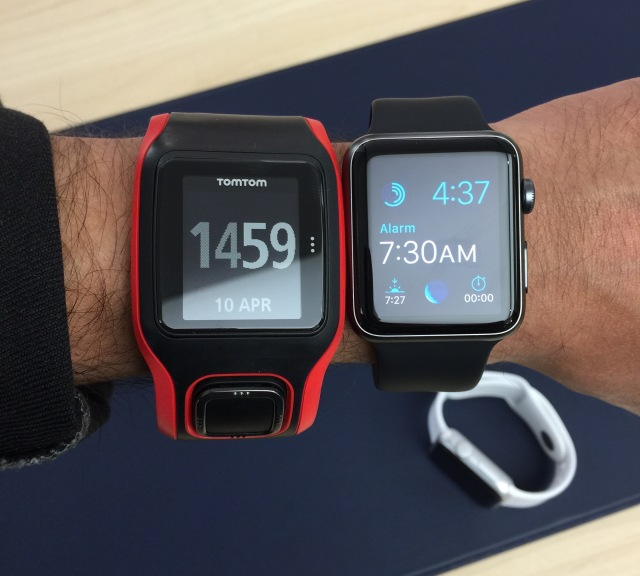Tom Tom Multisport Cardio and 42mm Apple Watch Sports