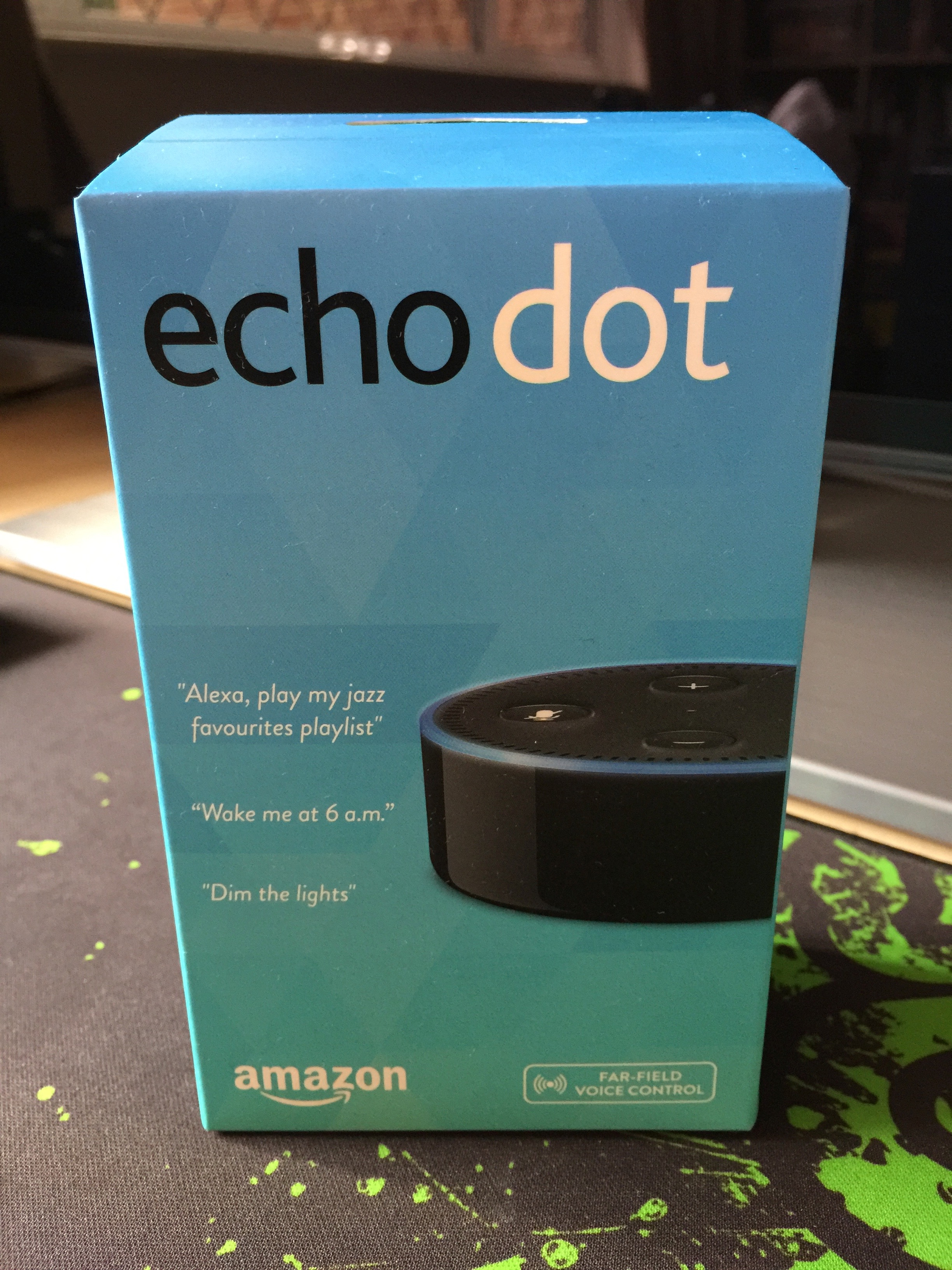 review of the amazon echo dot uk version running. Black Bedroom Furniture Sets. Home Design Ideas