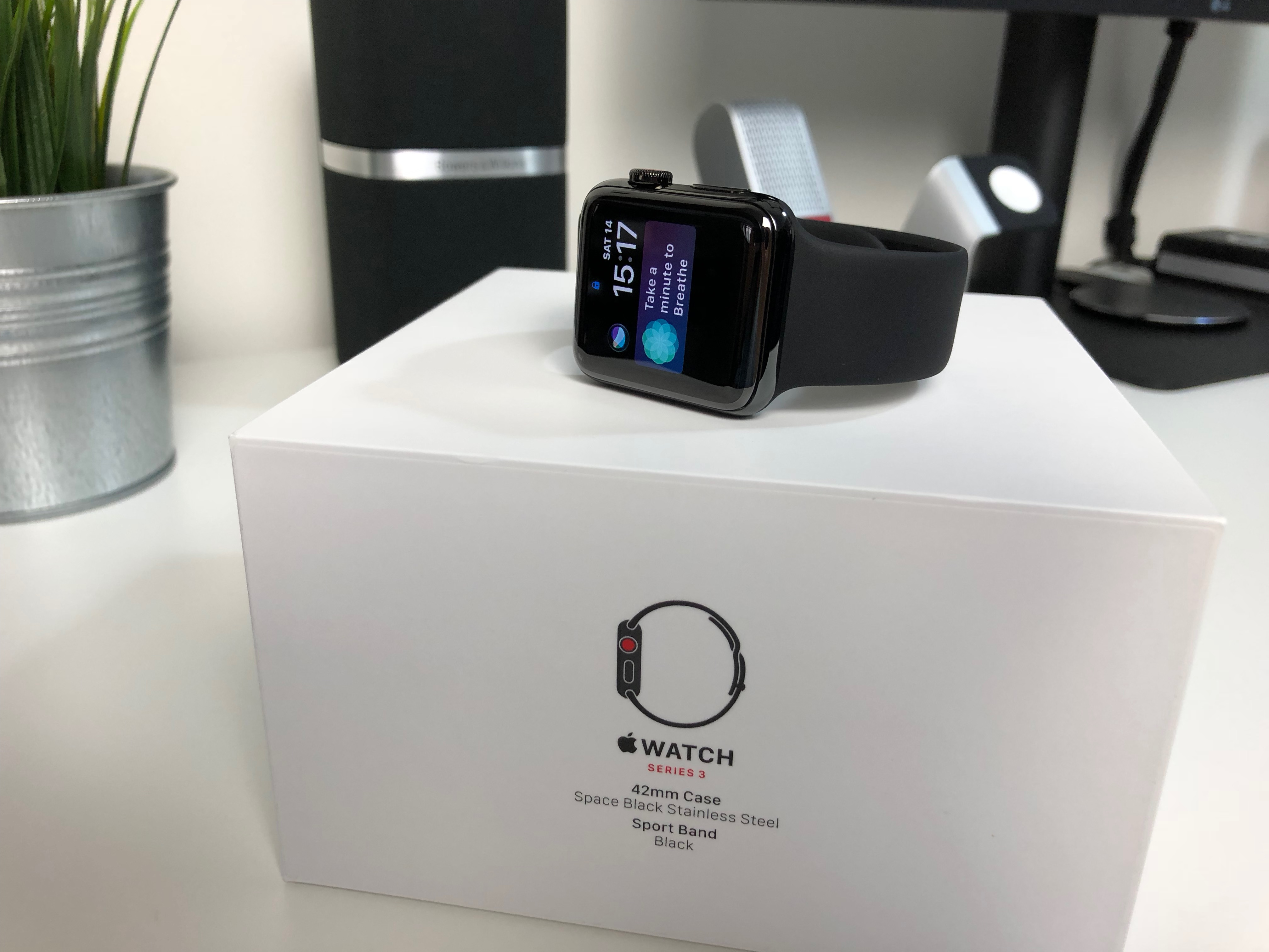 new arrival a7a50 b3ce2 Apple Watch Series 3 – Stainless Steel Space Black | RUNNING ...